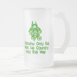 Cthulhu Only Eats Frosted Glass Beer Mug