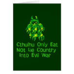 Cthulhu Only Eats Greeting Card