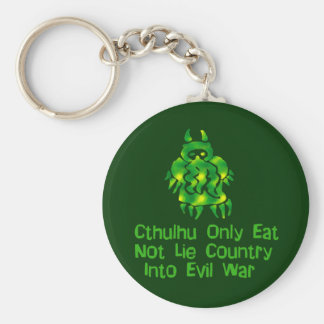 Cthulhu Only Eats Keychain