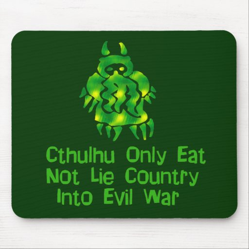 Cthulhu Only Eats Mouse Mat