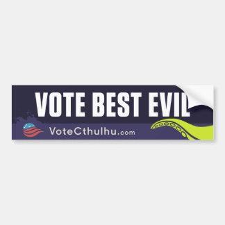 Cthulhu para el mejor mal del presidente 2016 voto pegatina para auto