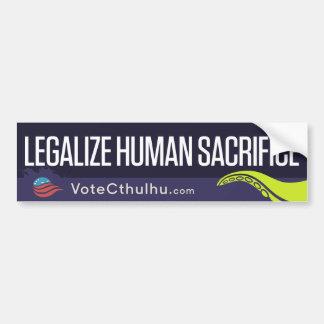 Cthulhu para el presidente '16 legaliza sacrificio pegatina para auto