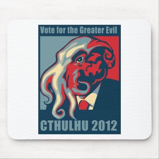 Cthulhu para el presidente 2012 alfombrillas de raton