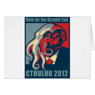 Cthulhu para el presidente 2012 tarjeta de felicitación