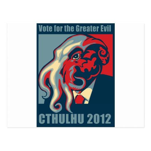 Cthulhu para el presidente 2012 tarjetas postales