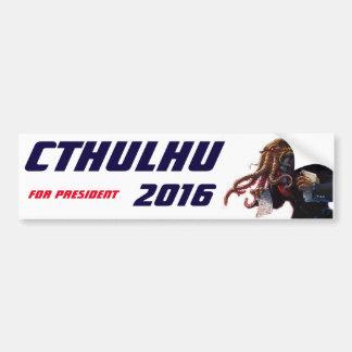 """Cthulhu para el presidente 2016 "" Pegatina Para Auto"