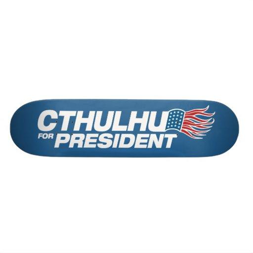 "Cthulhu para el presidente - HP Lovecraft Patineta 7 3/8"""