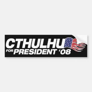 Cthulhu para el presidente pegatina para el parach pegatina para auto
