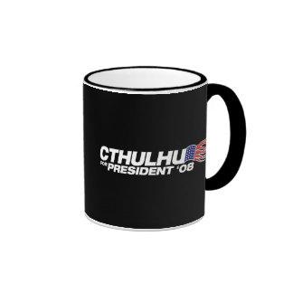 Cthulhu para presidente Mug Taza De Dos Colores