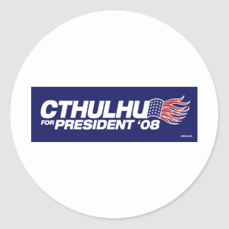 Cthulhu para presidente Sticker Etiqueta