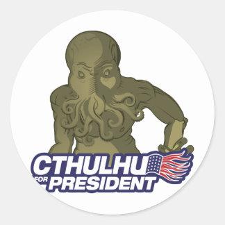 Cthulhu para presidente Sticker Pegatina Redonda