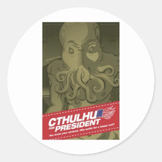 Cthulhu para presidente Sticker Pegatinas
