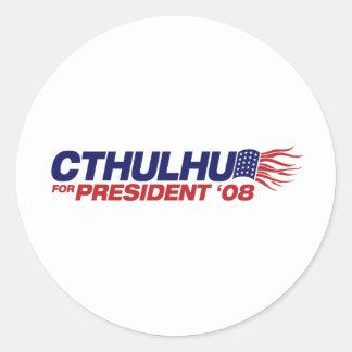 Cthulhu para presidente Sticker Pegatinas Redondas