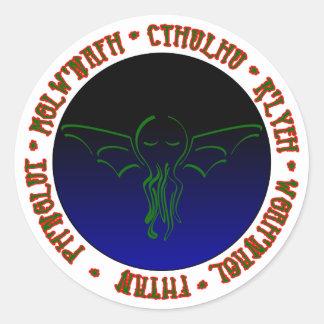 Cthulhu Sleeps - Round Sticker