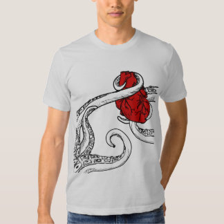 Cthulhu Stole My Heart T Shirt - Clear Tentacles