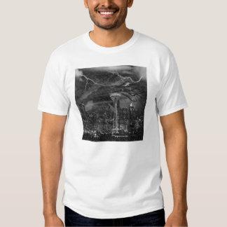 Cthulhu storms Seattle T-shirt