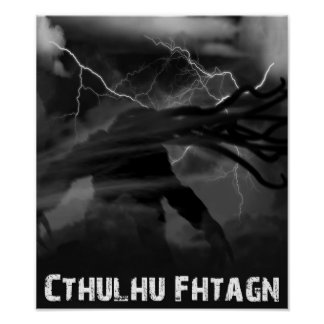 Cthulhu Thunderstorm Poster