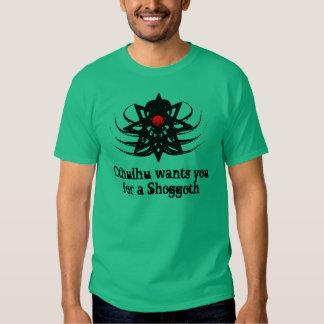 Cthulhu Wants You For A Shoggoth (erb2) Tee Shirt