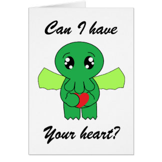 Cthulhu wants your heart stationery note card