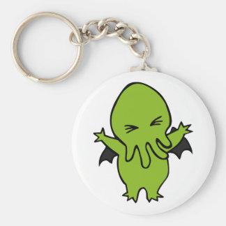Cthulie Basic Round Button Keychain