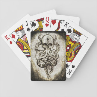 Cthulu Skull playing cards