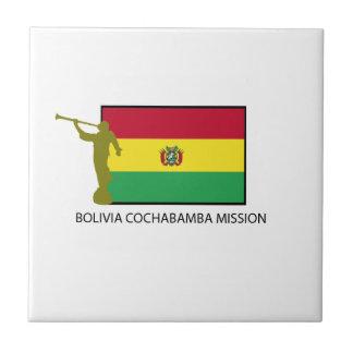CTR DE LA MISIÓN LDS DE BOLIVIA COCHABAMBA AZULEJO CUADRADO PEQUEÑO
