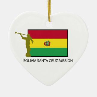 CTR de la misión LDS de Bolivia Santa Cruz Adorno Navideño De Cerámica En Forma De Corazón