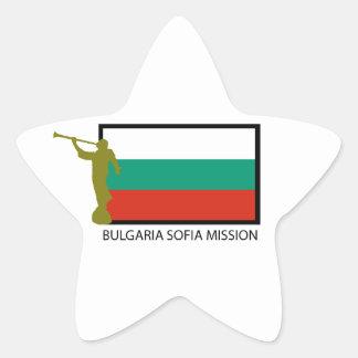 CTR DE LA MISIÓN LDS DE BULGARIA SOFÍA PEGATINA EN FORMA DE ESTRELLA