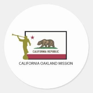 CTR DE LA MISIÓN LDS DE CALIFORNIA OAKLAND ETIQUETA