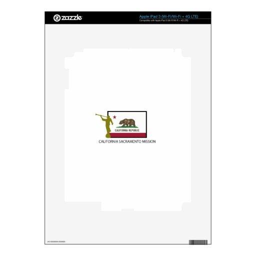 CTR DE LA MISIÓN LDS DE CALIFORNIA SACRAMENTO iPad 3 PEGATINAS SKINS