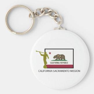 CTR DE LA MISIÓN LDS DE CALIFORNIA SACRAMENTO LLAVERO REDONDO TIPO PIN