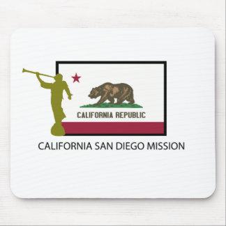 CTR DE LA MISIÓN LDS DE CALIFORNIA SAN DIEGO TAPETES DE RATON