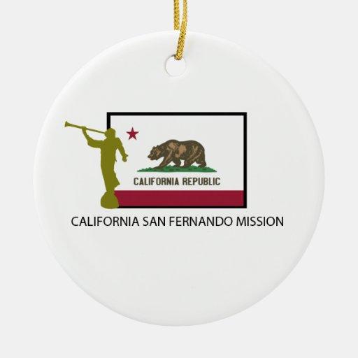 CTR DE LA MISIÓN LDS DE CALIFORNIA SAN FERNANDO ORNAMENTS PARA ARBOL DE NAVIDAD