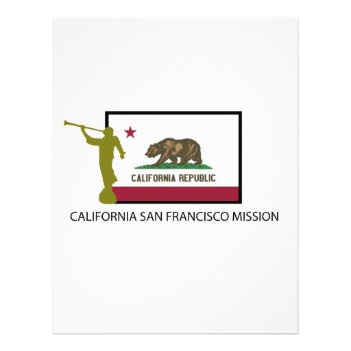 CTR DE LA MISIÓN LDS DE CALIFORNIA SAN FRANCISCO MEMBRETES PERSONALIZADOS