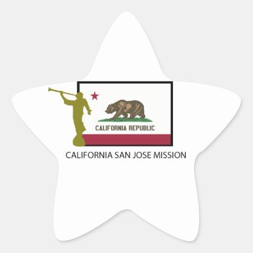 CTR DE LA MISIÓN LDS DE CALIFORNIA SAN JOSE PEGATINA EN FORMA DE ESTRELLA