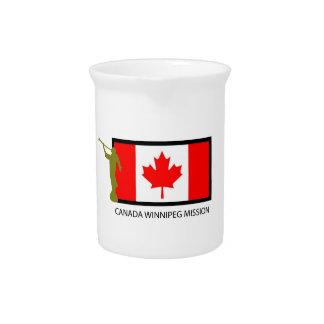 CTR DE LA MISIÓN LDS DE CANADÁ WINNIPEG JARRA DE BEBER