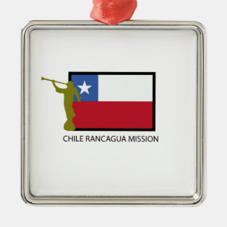 CTR de la misión LDS de Chile Rancagua Adorno Navideño Cuadrado De Metal