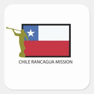 CTR de la misión LDS de Chile Rancagua Calcomanía Cuadradas Personalizadas