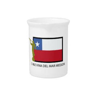 CTR de la misión LDS de Chile Vina del Mar Jarra Para Bebida