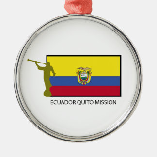 CTR de la misión LDS de Ecuador Quito Adorno Navideño Redondo De Metal