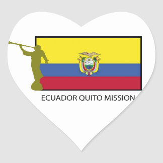 CTR de la misión LDS de Ecuador Quito Pegatina De Corazon Personalizadas