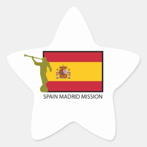 CTR DE LA MISIÓN LDS DE ESPAÑA MADRID PEGATINA EN FORMA DE ESTRELLA