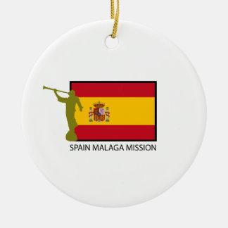 CTR DE LA MISIÓN LDS DE ESPAÑA MÁLAGA ADORNO NAVIDEÑO REDONDO DE CERÁMICA