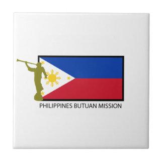 CTR DE LA MISIÓN LDS DE FILIPINAS BUTUAN AZULEJO CUADRADO PEQUEÑO