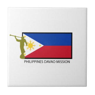 CTR DE LA MISIÓN LDS DE FILIPINAS DAVAO AZULEJO CUADRADO PEQUEÑO