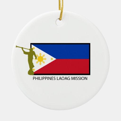 CTR DE LA MISIÓN LDS DE FILIPINAS LAOAG ADORNO REDONDO DE CERÁMICA