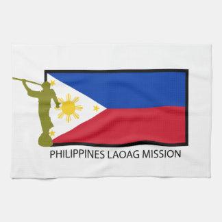 CTR DE LA MISIÓN LDS DE FILIPINAS LAOAG TOALLAS DE MANO