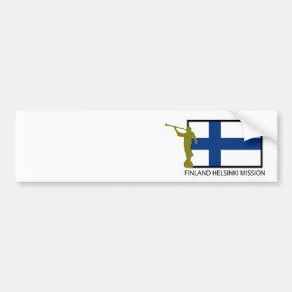 CTR DE LA MISIÓN LDS DE FINLANDIA HELSINKI PEGATINA DE PARACHOQUE
