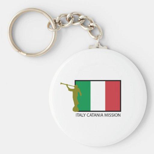 CTR DE LA MISIÓN LDS DE ITALIA CATANIA LLAVERO REDONDO TIPO PIN