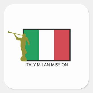 CTR DE LA MISIÓN LDS DE ITALIA MILANO COLCOMANIA CUADRADA
